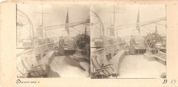 Vue Stéréoscopique Stereoview Stereoscope Stereokaart (8 X 17 Cm) Douvres (overzet Oostende - Dover ?) Bateau Schip - Photos Stéréoscopiques