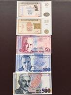 ARMENIA P33-34-41-42-44 10-25-50-100-500 DRAMS 1993.1998 UNC - Arménie