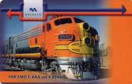 TARJETA TELEFONICA DE BULGARIA. TREN, PRR EMD E-8AA Set # 3590 - MOB-P-0214 A. (055) - Trains