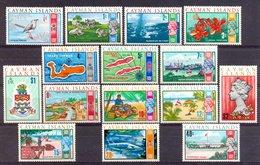 Mfk039 FAUNA TRANSPORT VOGEL VIS LANDKAART FLOWERS SCHIP AUTO CAR SHIP BIRD FISH COW MAP CAYMAN ISLANDS 1970 PF/MNH - Kaaiman Eilanden