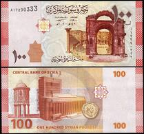 Syria P113, 100 Pounds, Amphitheater Ruins / Omayyad Mosque, Coin UNC 2009 - Syria