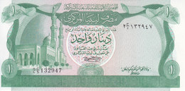 LIBYA 1 DINAR 1981 P-44a SIG/SHERLALA UNC */* - Libië