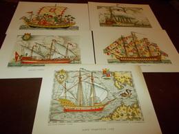 B697   5 Cartoline Navi Non Viaggiate - Altri