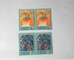 LOTTO 8 FRANCOBOLLI EMISSIONI 1998 NAZIONI UNITE - Francobolli