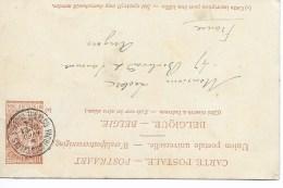 Carte Paquebot Cad  Paquebots Belges  OSTENDE DOUVRES  6 Avril 1904 Pour ANGERS TTB - Liner Cards