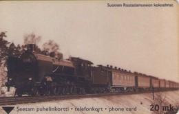TARJETA TELEFONICA DE FINLANDIA (TRENES, OLD TRAIN, TTL-D-377E, 06.01 - 2020 - TIRADA 4250). (039). - Trains