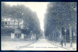 Cpa Du 94 Nogent Sur Marne Avenue De Joinville -- Institution Amarger   Sept18-03 - Nogent Sur Marne