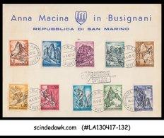 SAN MARINO - 1962 Mountaineering Exploration / HIKING - 10V FD CARD - FDC