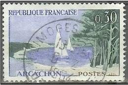 1961 0.30fr Arcachon, Sailboat, Used - France