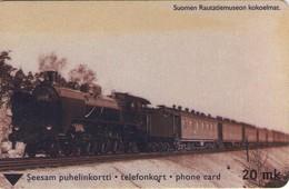 TARJETA TELEFONICA DE FINLANDIA (TRENES, OLD TRAIN, TTL-D-377B, 06.01 - 8020 - TIRADA 700) (040). - Trains