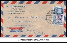 ECUADOR - 1958 AIR MAIL Envelope To U.S.A. With Stamp - Ecuador