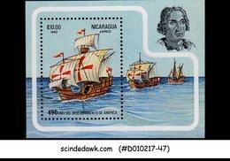 NICARAGUA - 1982 DISCOVERY OF AMERICA / SHIPS - Miniature Sheet MINT NH - Ships