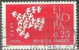 1961 0.25fr Europa, Used - France