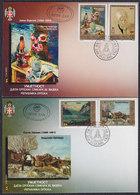 Bosnia Republic Of Srpska 2001 Art - Work Of Serbian Painters In 20th Century, FDC (First Day Cover) Michel 224-227 - Bosnien-Herzegowina