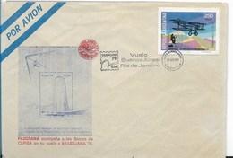 ARGENTINA 1979 COVER, BRASILIANA 79 FLIGHT BUENOS AIRES RIO DE JANEIRO PHILATELIC EXHIBITION AVIATION - FDC