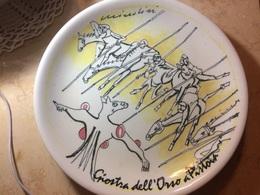 Piatto In Ceramica Remo Brindisi Giostra Dell'orsi Pistoia Bour Bon Tiratura Limitata - Ceramics & Pottery
