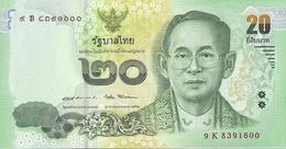 Thailand P130, 20 Baht, King Rama IX / King Rama IX As Child, 2017, UNC See UV - Thailand