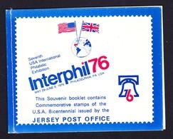 JERSEY CARNET (Booklet) 1976 INTERPHIL76 - Jersey