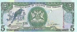 Trinidad & Tobago P42b, $5, Mot Mot Bird / Women W/ Wicker Baskets At Market UNC - Trinidad & Tobago