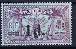 NOUVELLES HEBRIDES 1920 YT N° 66 ** Légende Anglaise - English Legend