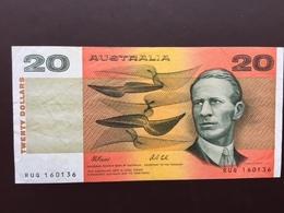 AUSTRALIA P46H 20 DOLLARS 1974 VF - Emissions Gouvernementales Décimales 1966-...