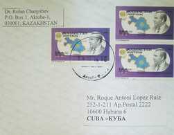 O) 1993 KAZAKHSTAN, PRESIDENT NASARBAJEV -MAP - SC- 40, TO CARIBE - Kazakhstan