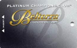 Belterra Casino Resort Florence, IN Slot Card - Platinum  (BLANK) - Casino Cards
