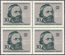 KIRCHHOFF, K. - Berlin 1974 Michel # 465 - Bloc Of 4 ** MNH - Kirchhoff's Laws - Physicist - Physics - Ciencias