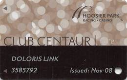 Hoosier Racing Casino - Anderson, IN - Slot Card - Casino Cards