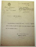 PREFETTURA DI TORINO AUTORIZZA GARA DI NUOTO PREFETTO UMBERTO RICCI  1932 - Historical Documents