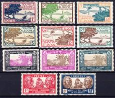 NOUVELLE CALEDONIE 1928-38 YT N° 139, 140, 141, 142, 145, 146, 147A, 150, 152, 154A Et 159 */** - Nuevos