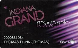 Indiana Grans Casino Shelbyville, IN - Slot Card - Indiana Grand Racing Casino Rev Logo - Casino Cards