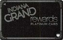 Indiana Grans Casino Shelbyville, IN - Slot Card - Indiana Grand Casino Rev Logo - Casino Cards