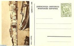 Yugoslavia 1955 Illustrated Postcard 10d, Mali Losinj, (Unused Postal Stationary), Ships & Boats - Ganzsachen