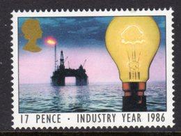 GREAT BRITAIN GB - 1986 INDUSTRY YEAR 17p STAMP FINE MNH ** SG 1308 - 1952-.... (Elizabeth II)