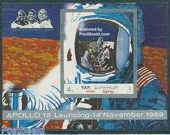 Yemen, Arab Republic 1970 Moonlanding S/s Imperforated, (Mint NH), Transport - Space Exploration - Stamps