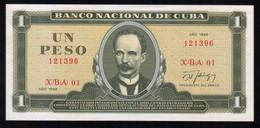 Caribe  / 1 PESO 1988 REPLACEMENT Serie XBA-01 121396 UNC - Cuba