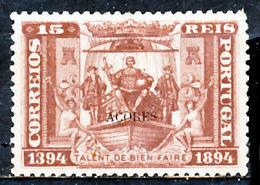 !■■■■■ds■■ Azores 1894 AF#62(*) D.Henrique 15 Réis (x9430) - Azores