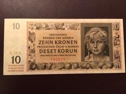 BOHEMIA MORAVIA P8 5 KORUM 08.07.1942 UNC - Billets