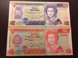 BELIZE P52-P53 2-5 DOLLARS 1990.1991 UNC - Belize