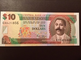 BARBADOS P62 10 DOLLARS 2000 UNC - Barbados (Barbuda)