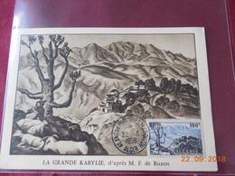 Carte D Algerie Francaise De 1958 (40 Ans De Peinture De Mr De Buzon.La Grande Kabylie.) - Briefe U. Dokumente
