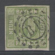 """ALLEMAGNE / BAVIERE:  N°6 Oblitéré """"B.P."""" - Bavière"""