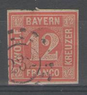"""ALLEMAGNE / BAVIERE:  N°7 Oblitéré """"232""""     - Cote 200€ - - Bavière"""