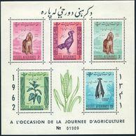 Afghanistan 565-574,MNH.Michel Bl.22A,B-23A,B. Afghan Hound,Cock,Skins,Plant, - Afghanistan