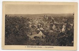 (RECTO / VERSO) MONTBELIARD - N° 4 - VUE GENERALE - TIMBRE DECOLLE - FORMAT CPA VOYAGEE - Montbéliard