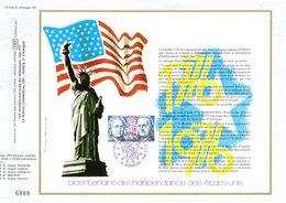 """"""" 200 ANS DE L'INDEPENDANCE DES USA """" Sur Feuillet CEF 1er Jour De 1976. N° YT 1879. Parfait état. - Us Independence"""