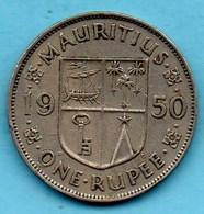 T1/   MAURITIUS / MAURICE  1 RUPEE 1950 Km#29;1 - Maurice