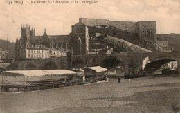 CPA - HUY - Le Pont; La Citadelle Et La Collégiale - Bateau - 1914 (B163) - Huy
