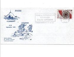 1 ER JOUR FLAMME FOIRE DE CLERMONT COURNON PUY DE DOME 1983 - Oblitérations Mécaniques (flammes)
